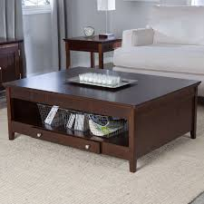 wood coffee table with storage 20 collection of dark wood square coffee tables
