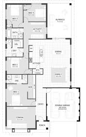 four bedroom plan single story house best plans home designs