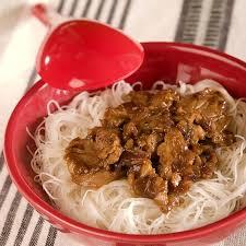 cuisine chinoise porc porc au caramel et aux vermicelles de soja
