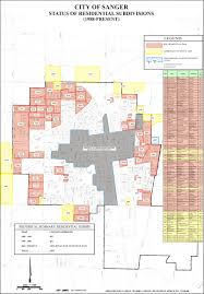 City Of San Jose Zoning Map by Sanger California Map California Map
