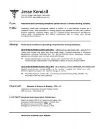Nursing Aide Resume Sample by Good Objective For Nurse Aide Resume
