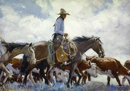 stray man heads home u0027 by w h d koerner cowboys and girls