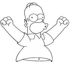 homer simpson free simpsons coloring pages homer