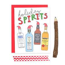christmas card holiday spirits drunk card funny