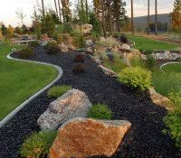 Rock Backyard Landscaping Ideas Front Yard Ideas No Grass Gr Architecture River Rock Landscaping