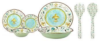 melamine dishes with dinnerware set le cadeaux le cadeaux