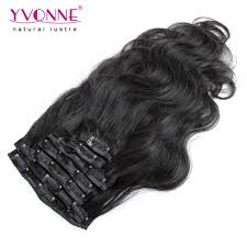 Human Hair Extensions With Clips by Yvonne Brazilian Body Wave Virgin Hair Clip In Human Hair