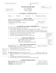 Resume For Teaching Assistant Sample Middle Teacher Resume Resume Elementary Teacher