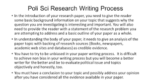 writing of research paper research paper workshop research topics in development and poli sci research writing process in the introduction of your research paper you need to