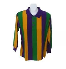 mardi gras polo shirt mardi gras vertical stripe sleeve polo shirt available m 4xl