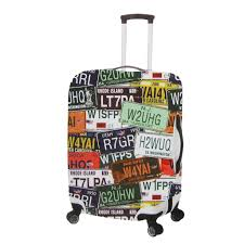 Washington small travel bags images License plate pattern luggage cover by primeware luggage tags at jpg