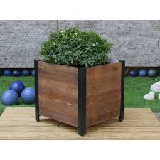 square wooden planter box free shipping today overstock com