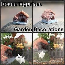 resin tiny house figurines garden bonsai terrarium home