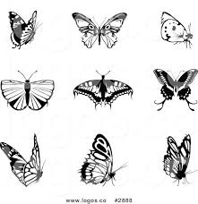 royalty free collage of butterfly logos by dero 2888