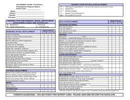preschool report card template great preschool report card template images exle resume and