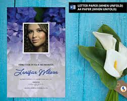 Downloadable Funeral Program Templates Angel Wing Funeral Program Template Obituary Program
