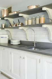 Under Counter Corbels Kitchen With Basalt Shelves With Corbels Cottage Kitchen
