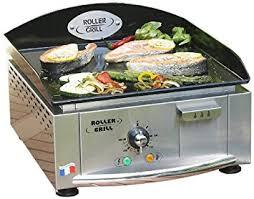 cuisine à la plancha électrique roller grill r pl400ee plancha electrique simple plaque emaillée