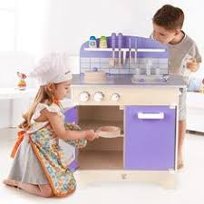 Kitchen Play Accessories - wooden kitchen playset with deluxe accessories kids pretend play