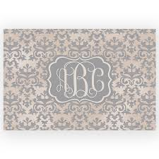 Damask Bath Rug Damask Personalized Kitchen Rug Vintage Damask Monogrammed Bath