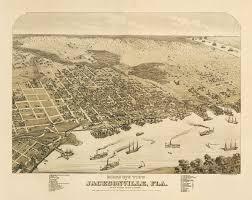 Jacksonville Map Vintage Map Jacksonville Florida 1876 30 00 Via Etsy