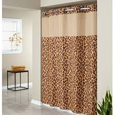 Polyester Shower Curtains Hookless Leopard Print Mystery Polyester Shower Curtain Walmart