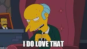 Mr Burns Excellent Meme - mr burns simpsons chair imgflip