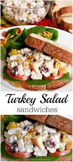 simple turkey salad sandwiches leftover turkey meal