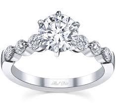 Circle Diamond Wedding Ring by Floating Diamond Engagement Ring