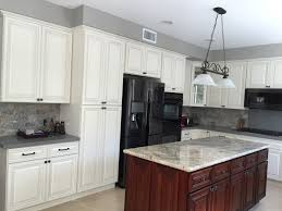 Antique Cabinets For Kitchen Antique White Cabinets With Granite Quartz Countertops For