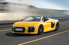 lexus yellow convertible audi r8 spyder convertible shown at 2016 new york auto show
