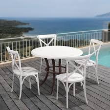 French Style Patio Furniture by Joveco Econ Friendly Nylon Vintage Style Dining Chair Curved Leg