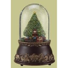 musical brown christmas tree 7 musical revolving bell jar w christmas tree and snow