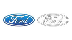 ford logo como desenhar o símbolo da ford logo emblema escudo how to