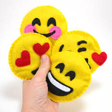 make emojis plushies out of felt these are filled with catnip for