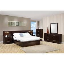 coaster jessica king contemporary bed with storage headboard and