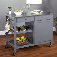 stainless steel topped kitchen islands kitchen island kitchen island stainless grey steel top rolling