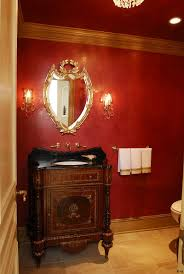 Orange Powder Room Red Venetian Plaster Faux Real Pinterest Venetian Red