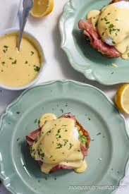 cuisine hollandaise avocado on toast with poached egg and blender hollandaise