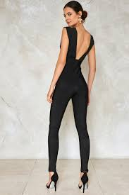 plunging jumpsuit put me out plunging jumpsuit shop clothes at gal