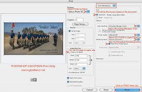 tutorial photoshop cs3 professional photoshop cs3 ps10 epson printing tutorial instructions no color