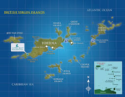 map of the bvi bay located on islands caribbean