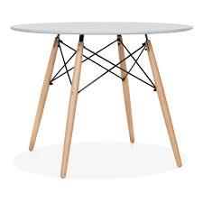 Esszimmertisch Dunkles Holz Eames Style Grau Dsw Runder Tisch 100cm Esstische Cult De
