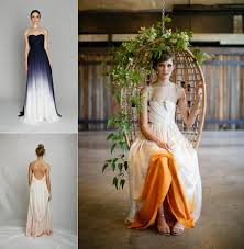wedding dress alternatives ombre and dip dye wedding dresses fly away