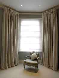 bespoke cream curtains with goblet pleat heading u0026 covered lathe