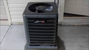 2012 amana distinctions 1 5 ton central air conditioner running on