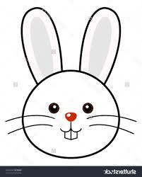 simple bunny drawing rabbit coloring pages getcoloringpages