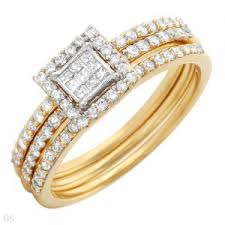 Engagement Rings And Wedding Band Sets by 14k Two Tone Gold Engagement Ring Wedding Band And Anniversary