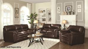Leather Livingroom Sets Burton Brown Leather Sofa And Loveseat Set Steal A Sofa