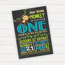monkey birthday invitation monkey birthday party monkey